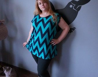 Chevron Tunic Dress. 2X 3X