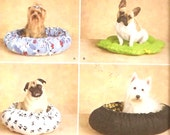 Cat or Dog bed Fleece No Sew pattern Ida Fry XS to Medium Simplicity 2297 UNCUT