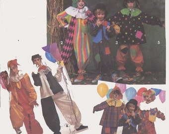 Clown Costume Clown Court Jeste Halloween Costume Simplicity 7428 Size Small to Large UNCUT