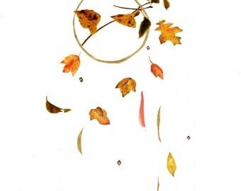 fall leaves, giclée print