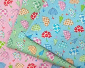Happy Umbrella - Japanese Cotton Fabric - half yard