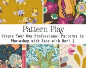 """Online Art Class """"Pattern Play-create your own professional patterns in Photoshop with ease"""