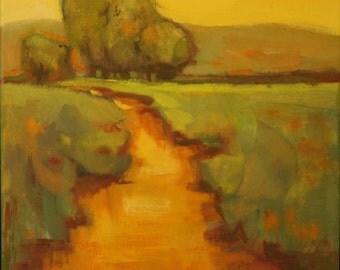 Landscape Oil Painting//Sunrise  Sunset// 12 x 12 Canvas
