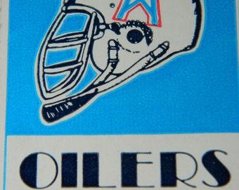 Tampa Bay Buccaneers vs. Houston Oilers Ticket Stubs, October 19th, 1980, Astrodome Houston, Texas, Football Stubs