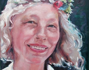 Custom Portrait Painting in oil, Commission a Portrait from your photos,  Original, 11 x 14