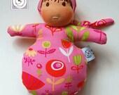 Waldorf inspired Mini Baby, All Natural Materials, Pink