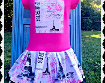 Womens Adult Paris dress Eiffel Tower Paris XS S M L and XL