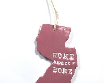 Home Sweet Home New Jersey Ornament