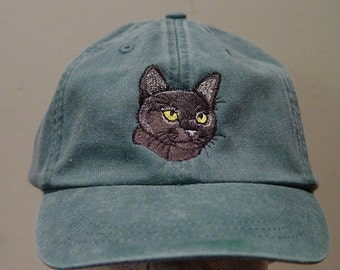 BOMBAY SHORTHAIRED CAT Hat - One Embroidered Men Women Cap - Price Embroidery Apparel - 24 Color Caps Available