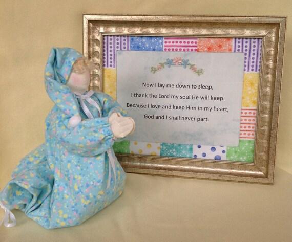 Cloth Doll E-Pattern Praying Child and Bedtime Prayer