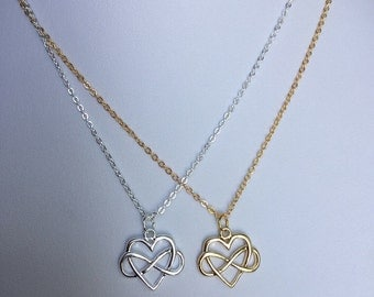 Infinite Love Necklace in gold plated chain, Polyamory Jewelry, infinite love jewelry