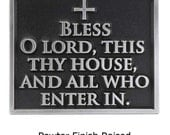 """Blessing Welcome Plaque, Religious Christian Sign, 8""""W by 6.5""""H made in USA"""