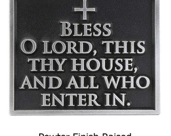 "Blessing Welcome Plaque, Religious Christian Sign, 8""W by 6.5""H made in USA"