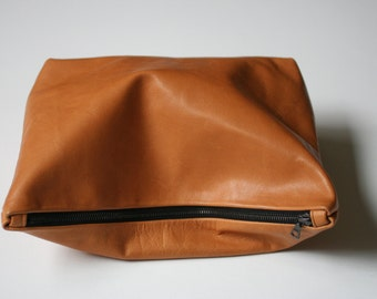 Holiday Sale Luggage or Black Leather Clutch Handbag, Pouch, Women's Fashion Accessories, Gifts for Her