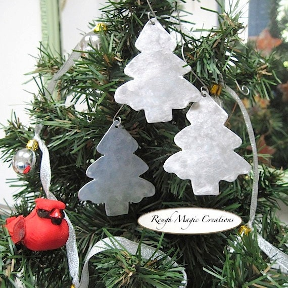 Aluminum christmas ornaments set silver by