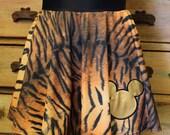 Mickey Expedition Everest Challenge leopard cheetah tiger zebra Running skirt disney half marathon animal kingdom bathsuit cover-up spandex