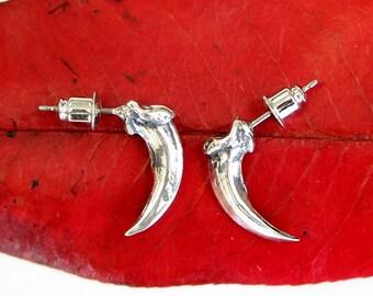 Fox Claw Stud Earrings Sterling Silver Fox Claw Post Earrings 474