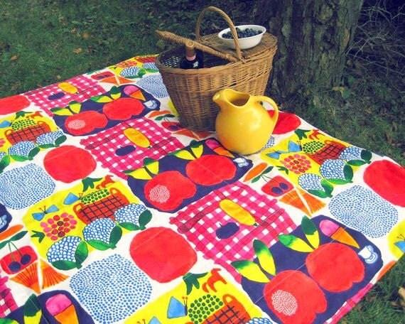 Picnic Blanket- Marimekko Picnic Blanket- Waterproof, Personalized, Modern Decor, Summer