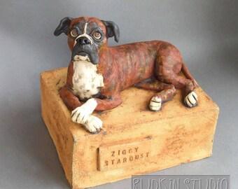 Custom Ceramic Pet Sculpture or Memorial Urn-- DEPOSIT (--please convo before purchase--)