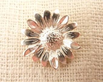 Vintage Sterling Sunflower Charm