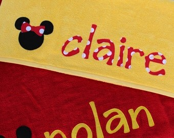 Mouse inspired Beach/Bath Towel