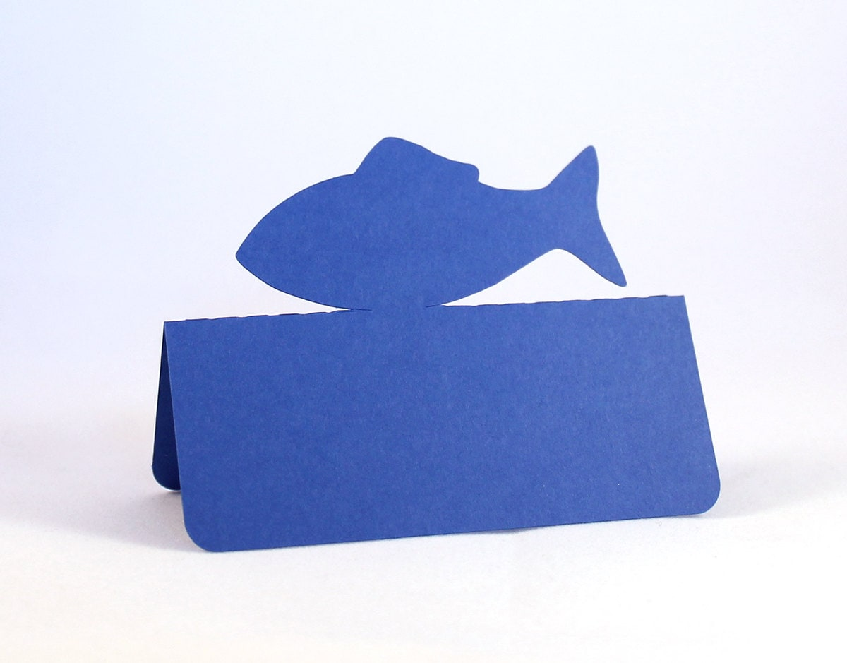 Fish place cards set of 50 meal choice wedding place cards for That fish place coupon