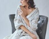 Wedding shawl | Winter Wedding | Bridal Fur Stole | Faux Fur Wrap [York Fur Shawl: Snow Leopard]