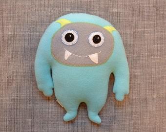 Light Blue Teal Monster Softie: Winston the Yeti