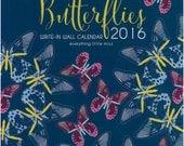Butterflies 2016 Write-In Wall Calendar
