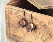 Rustic Book Earrings, Mini Leather Journal Earrings