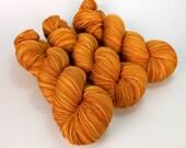 OOAK Autumn Orange Handpainted 80/20 Merino Sock Yarn - 4 skeins available