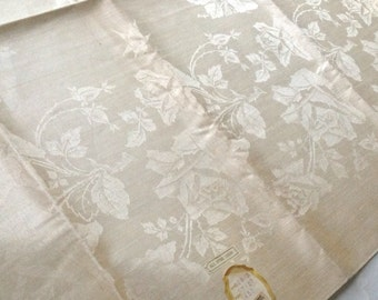 Czech Damask Linen Tablecloth 57 x 57 Inches Square