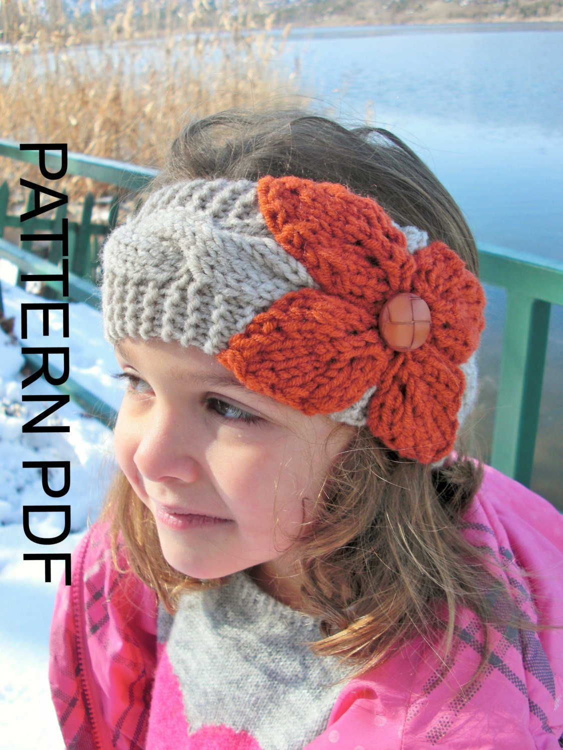 Headband Ear Warmer Knitting Pattern : Ear Warmer Headband Knitting PATTERN Instant Download Pattern
