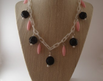 Rosie Retro Inspired Necklace and Earring Fakelite Bakelite Vintage Style 40s 50s Set by Red Hot Kitten