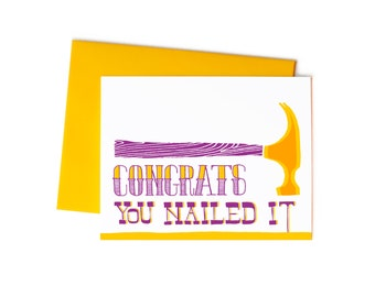 Graduation Greeting Card, Congrats, You Nailed It: For Him Congratulations