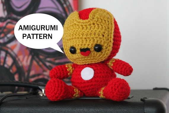 Iron Man Pattern Iron Man Amigurumi Pattern