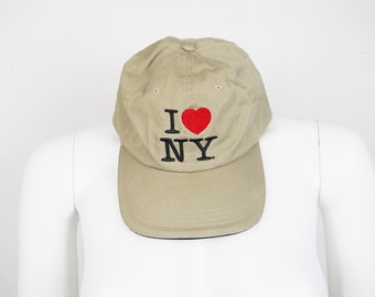 VTG I Love New York NYC NY Ballcap Hat