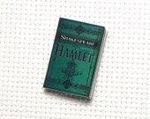 Needle Minder Miniature Book Hamlet William Shakespeare Book Needle Nanny 1 Inch