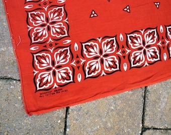 Vintage Brown Washfast Color Geometric Cotton Bandana