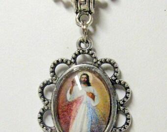 Divine Mercy pendant with chain - AP08-121C