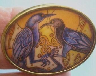 Blue Bird Brooch KL Design