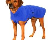 Ultra Fleece Dog Jacket, custom made dog coat of windpro fleece with turtleneck and tummy panel to keep  your pup warm