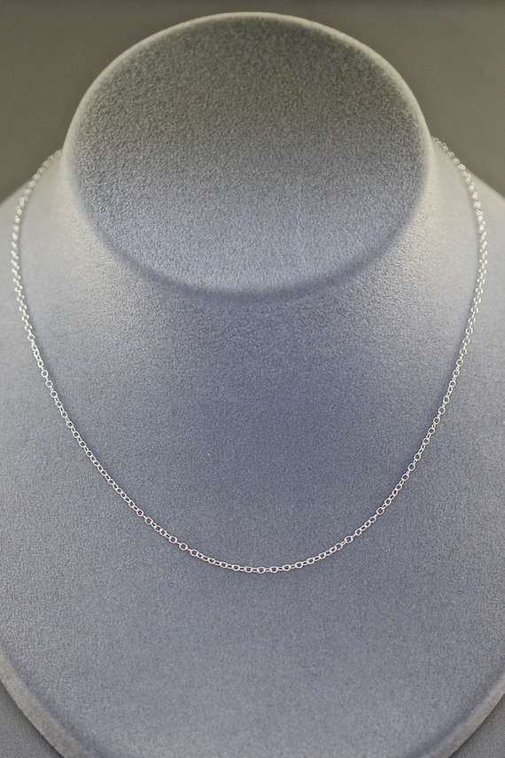 "16"" Silver Chain - Finished Silver Chain - Simple Chain - Everyday Silver Necklace - Open Link Silver Chain - Sterling Silver Chain - Gift"
