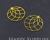 Exclusive - 6pcs Raw Brass Geometry Charm / Pendant, Fit For Necklace, Earring, Brooch (RD038)