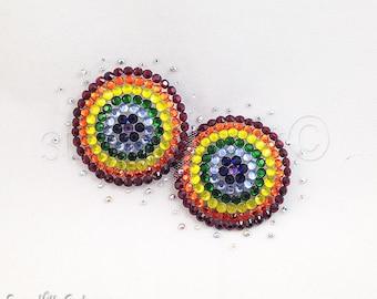 Round Rainbow Floating Illusion Nipple Pasties - SugarKitty Couture
