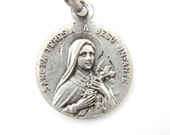 RARE Vintage Saint Therese - Saint John Vianney Cure d'ars Catholic Medal - O94