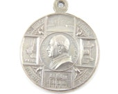 Vintage 1920s Pope Pius XI Catholic Medal - Papal Religious Charms - Scapular Medallion - Anno Jubilee 1925 - P80