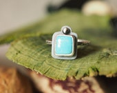 Sterling Silver Turquoise Stacking Ring - Made to Order