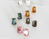 Oversized Sparkling Swarovski Studs - Five color choices