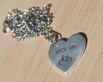 ride on stamped heart